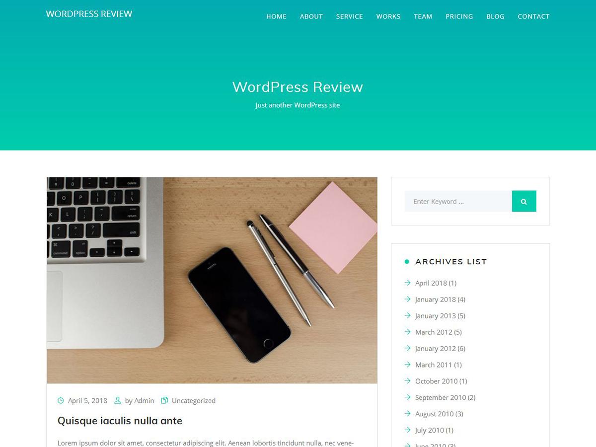 Keeway Lite Preview Wordpress Theme - Rating, Reviews, Preview, Demo & Download