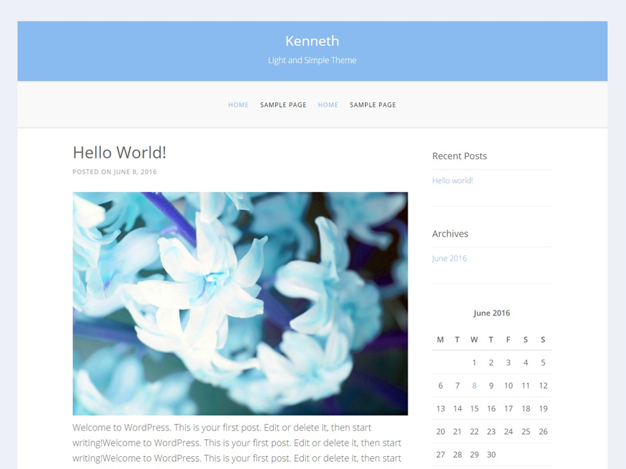Kenneth Preview Wordpress Theme - Rating, Reviews, Preview, Demo & Download
