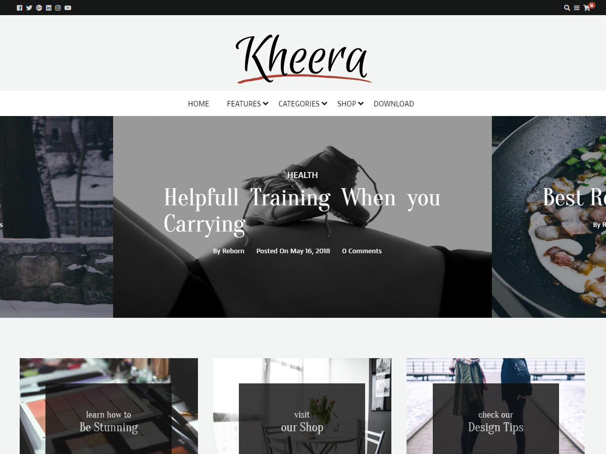 Kheera Preview Wordpress Theme - Rating, Reviews, Preview, Demo & Download
