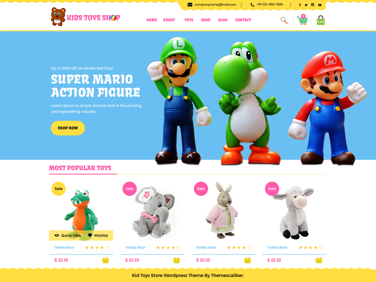 Kid Toys Preview Wordpress Theme - Rating, Reviews, Preview, Demo & Download