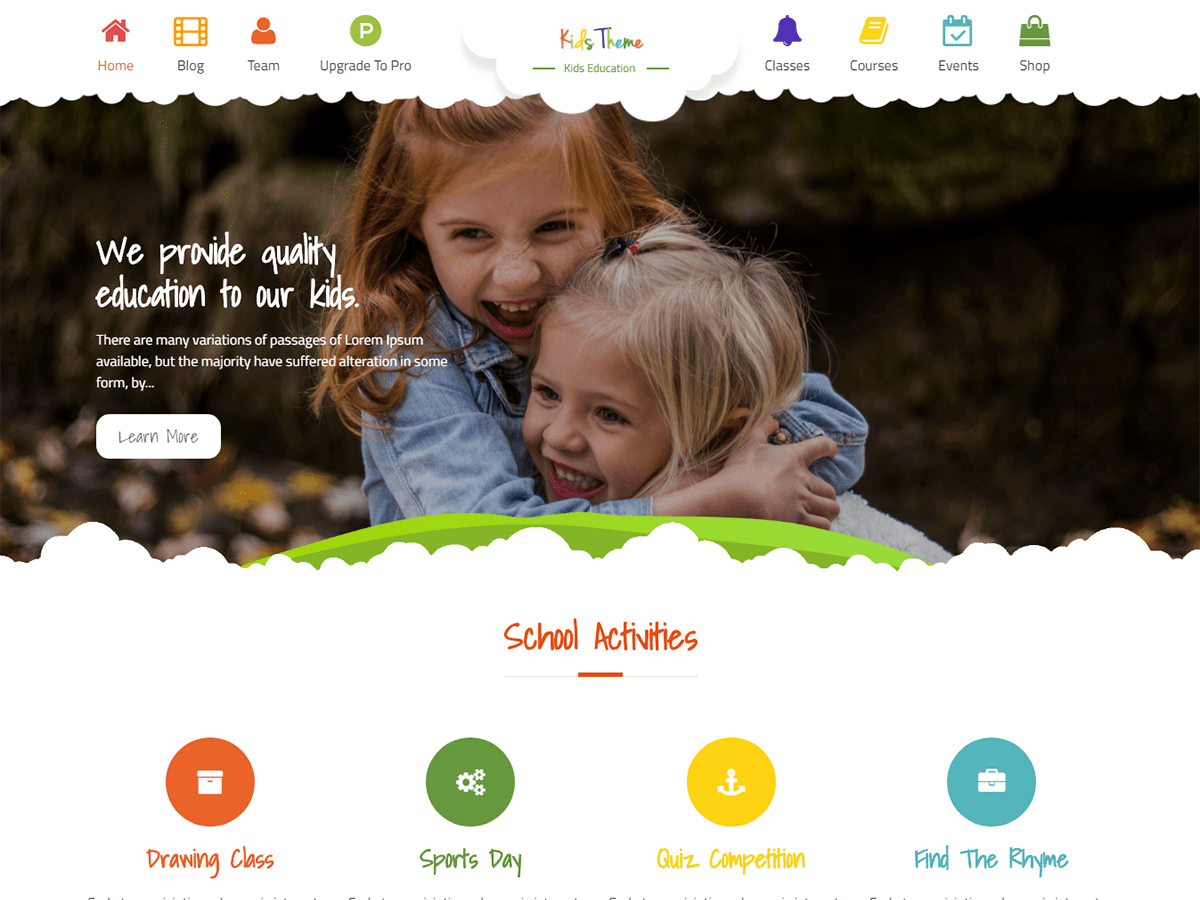 Kids Education Preview Wordpress Theme - Rating, Reviews, Preview, Demo & Download