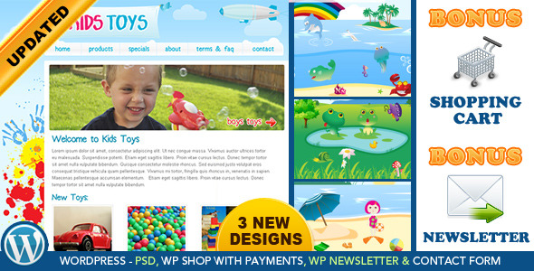Kids Toys Preview Wordpress Theme - Rating, Reviews, Preview, Demo & Download