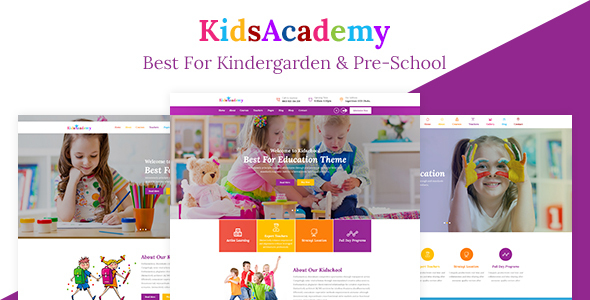KidsAcademy Preview Wordpress Theme - Rating, Reviews, Preview, Demo & Download