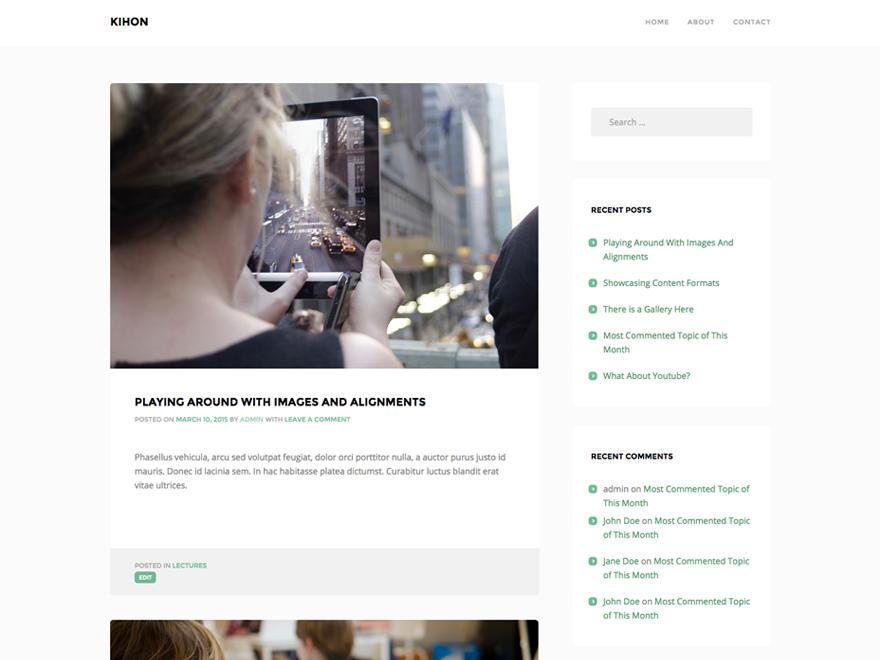 Kihon Preview Wordpress Theme - Rating, Reviews, Preview, Demo & Download