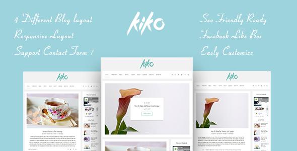 KIKO A Preview Wordpress Theme - Rating, Reviews, Preview, Demo & Download