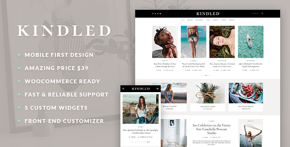 Kindled Preview Wordpress Theme - Rating, Reviews, Preview, Demo & Download