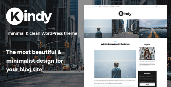 Kindy Preview Wordpress Theme - Rating, Reviews, Preview, Demo & Download