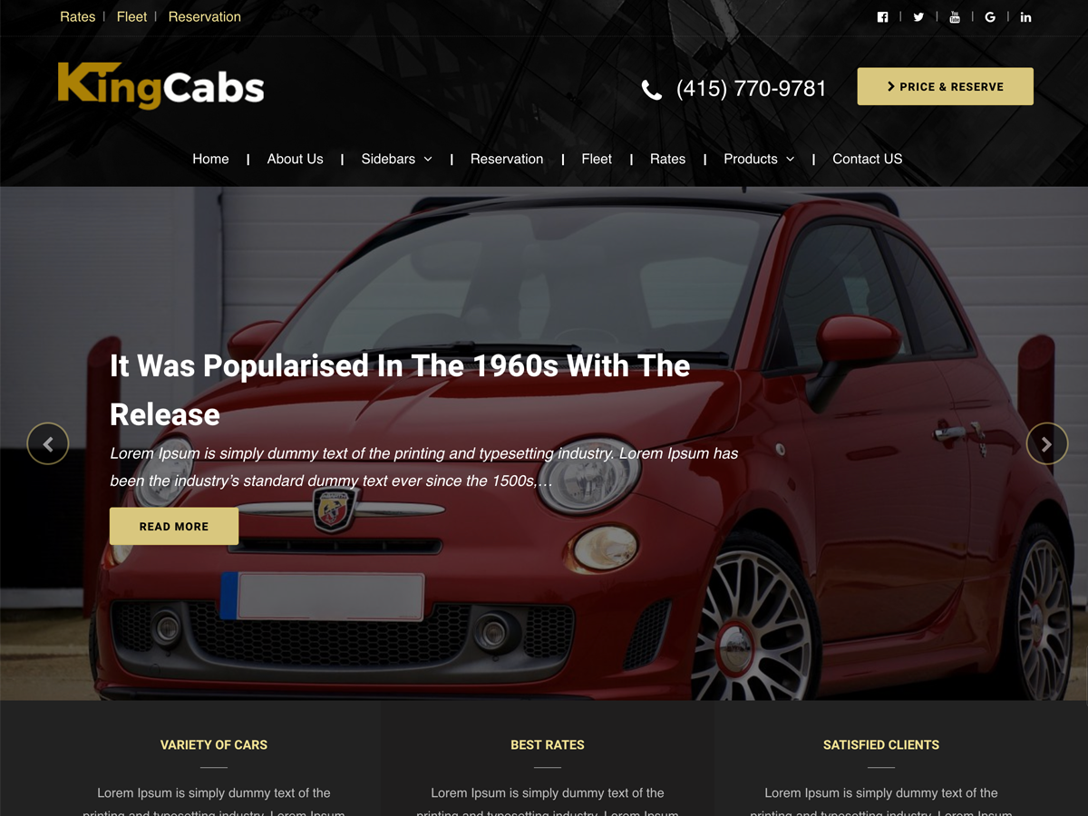 Kingcabs Preview Wordpress Theme - Rating, Reviews, Preview, Demo & Download