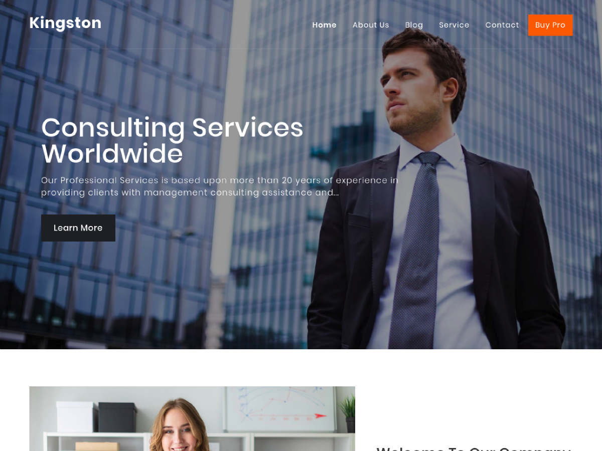 Kingston Preview Wordpress Theme - Rating, Reviews, Preview, Demo & Download