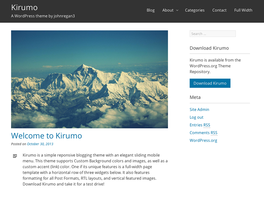 Kirumo Preview Wordpress Theme - Rating, Reviews, Preview, Demo & Download