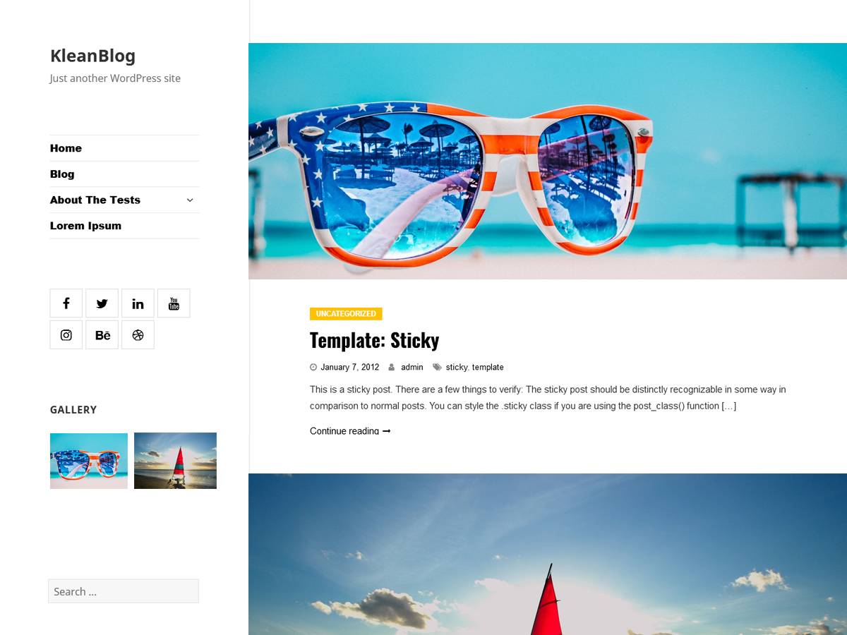 Klean Blog Preview Wordpress Theme - Rating, Reviews, Preview, Demo & Download