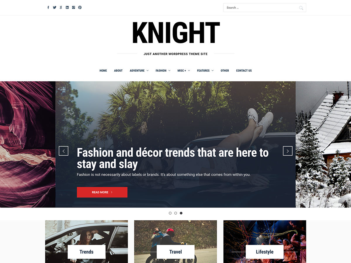 Knight Preview Wordpress Theme - Rating, Reviews, Preview, Demo & Download