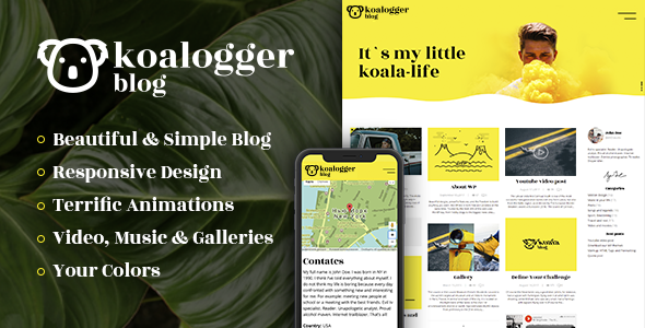 Koalogger Preview Wordpress Theme - Rating, Reviews, Preview, Demo & Download