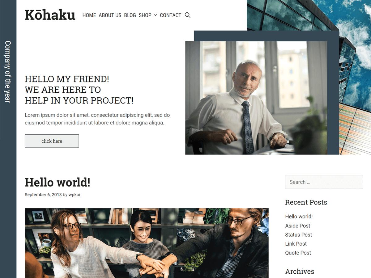 Kohaku Preview Wordpress Theme - Rating, Reviews, Preview, Demo & Download