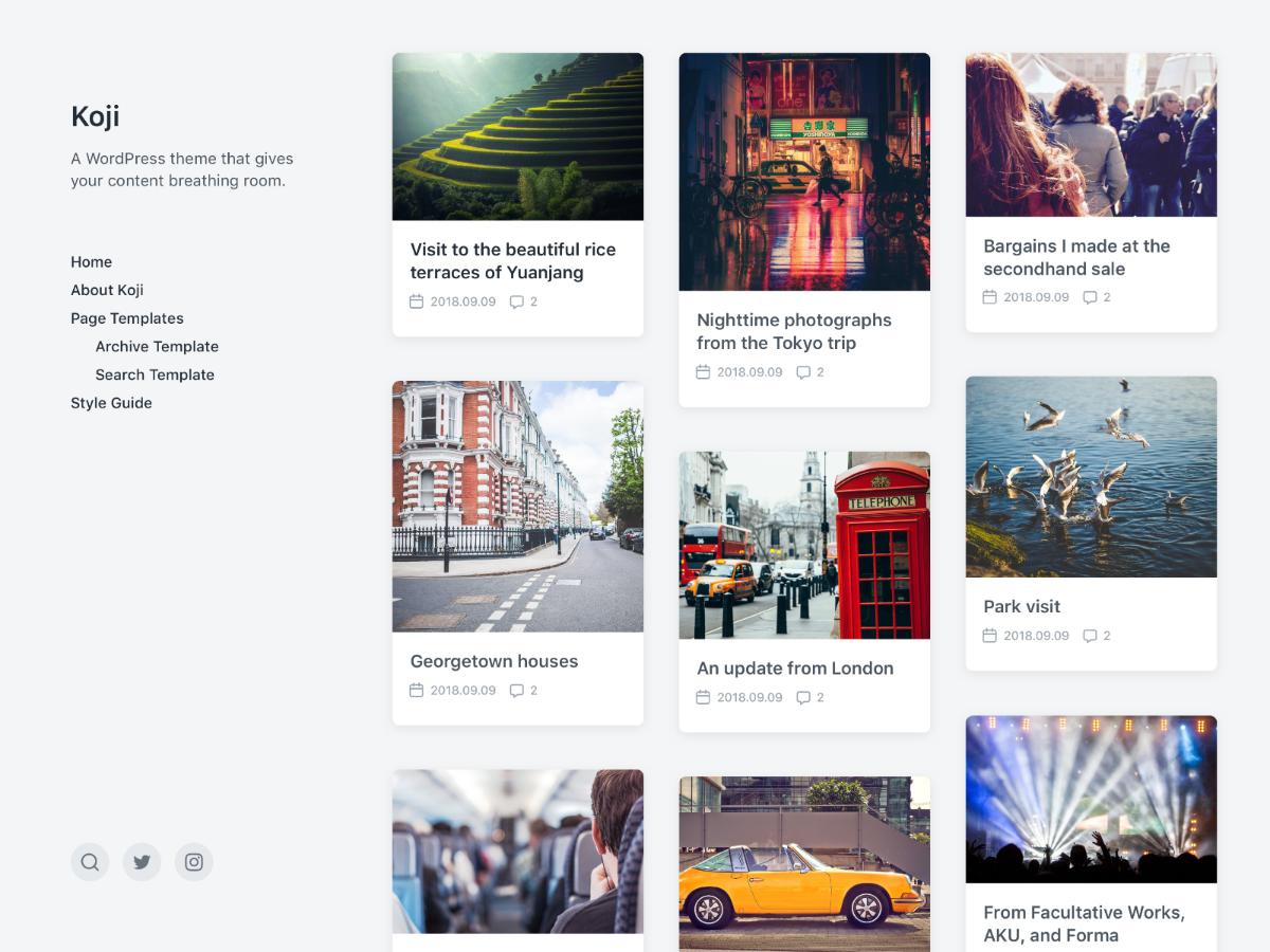 Koji Preview Wordpress Theme - Rating, Reviews, Preview, Demo & Download