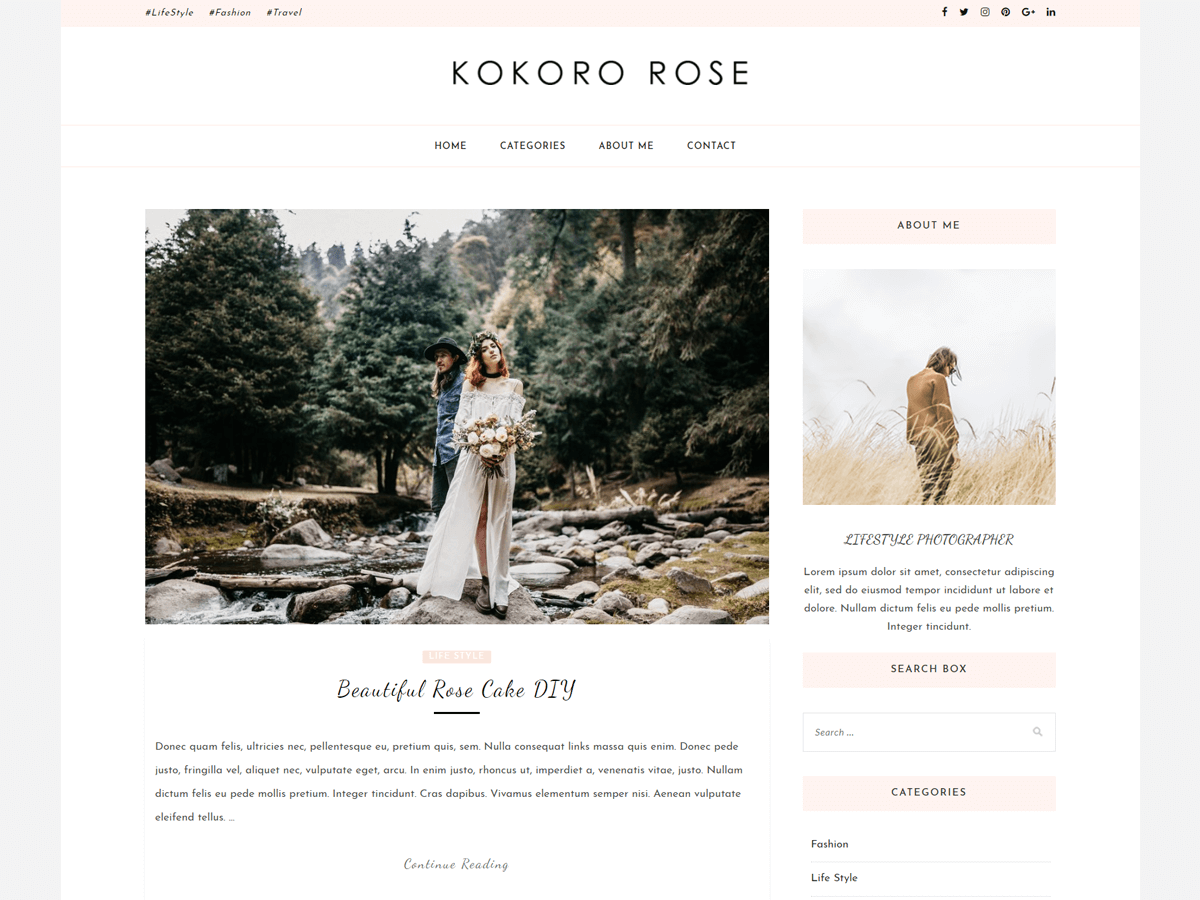 Kokoro Rose Preview Wordpress Theme - Rating, Reviews, Preview, Demo & Download