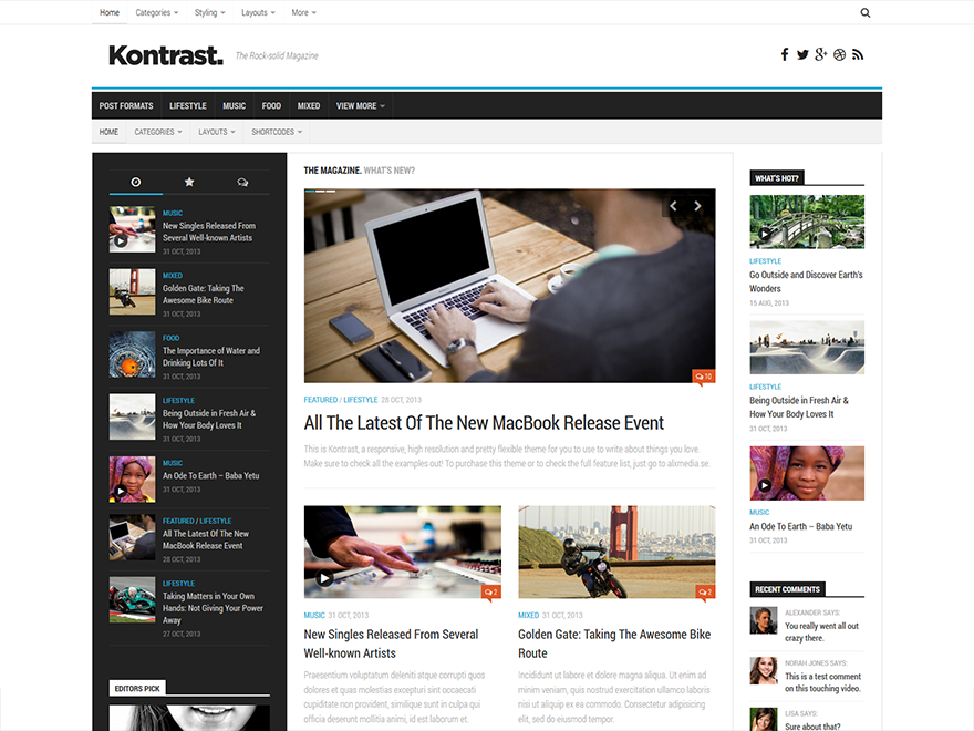 Kontrast Preview Wordpress Theme - Rating, Reviews, Preview, Demo & Download