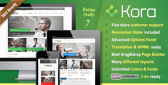 Kora Premium Preview Wordpress Theme - Rating, Reviews, Preview, Demo & Download