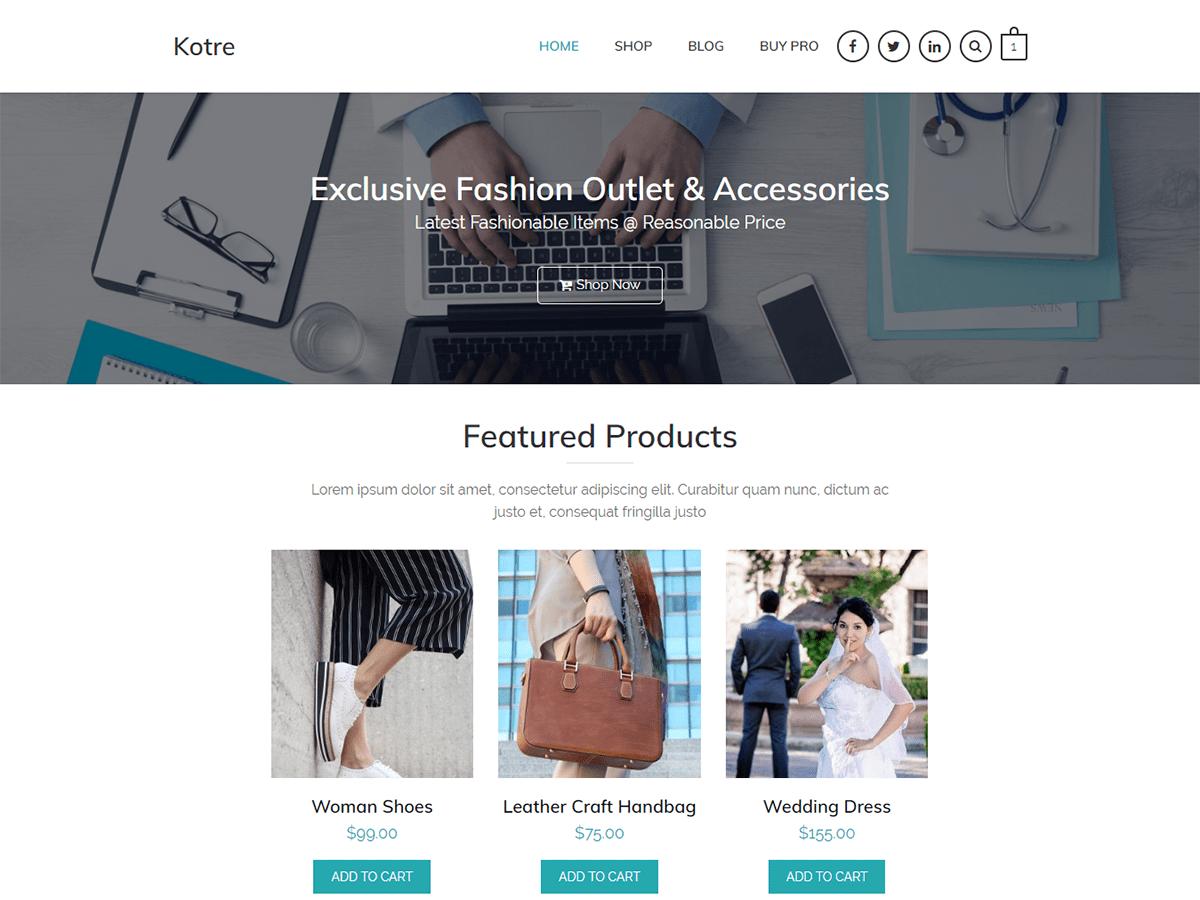 Kotre Preview Wordpress Theme - Rating, Reviews, Preview, Demo & Download