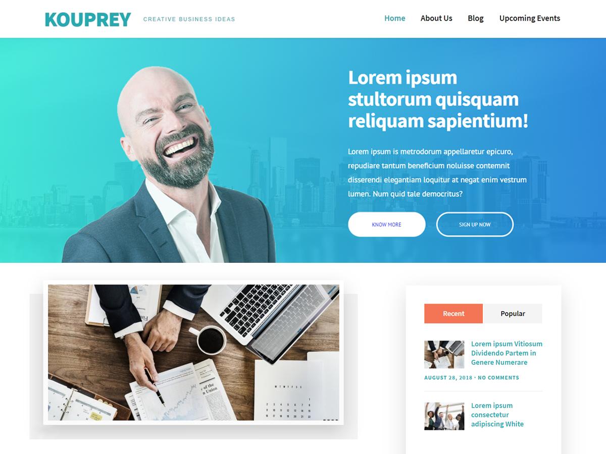 Kouprey Preview Wordpress Theme - Rating, Reviews, Preview, Demo & Download
