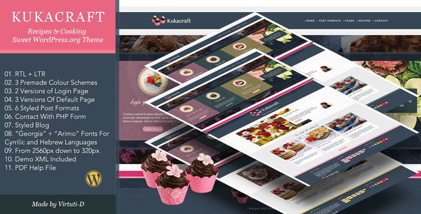 Kukacraft Preview Wordpress Theme - Rating, Reviews, Preview, Demo & Download