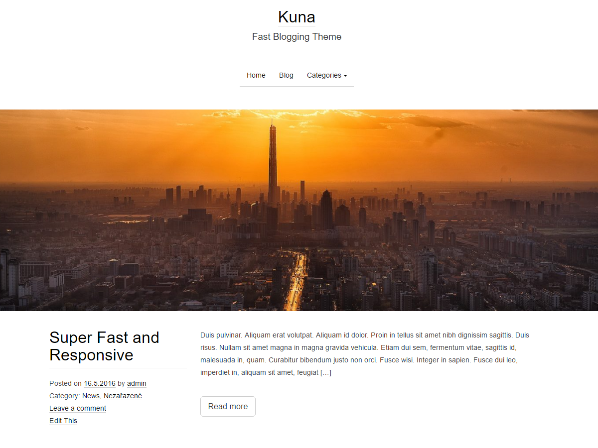 Kuna Preview Wordpress Theme - Rating, Reviews, Preview, Demo & Download