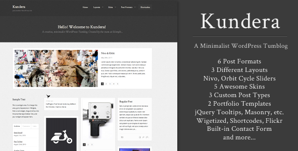 Kundera Preview Wordpress Theme - Rating, Reviews, Preview, Demo & Download