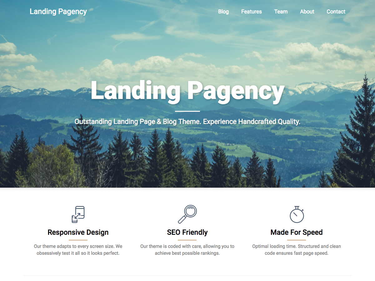 Landing Pagency Preview Wordpress Theme - Rating, Reviews, Preview, Demo & Download