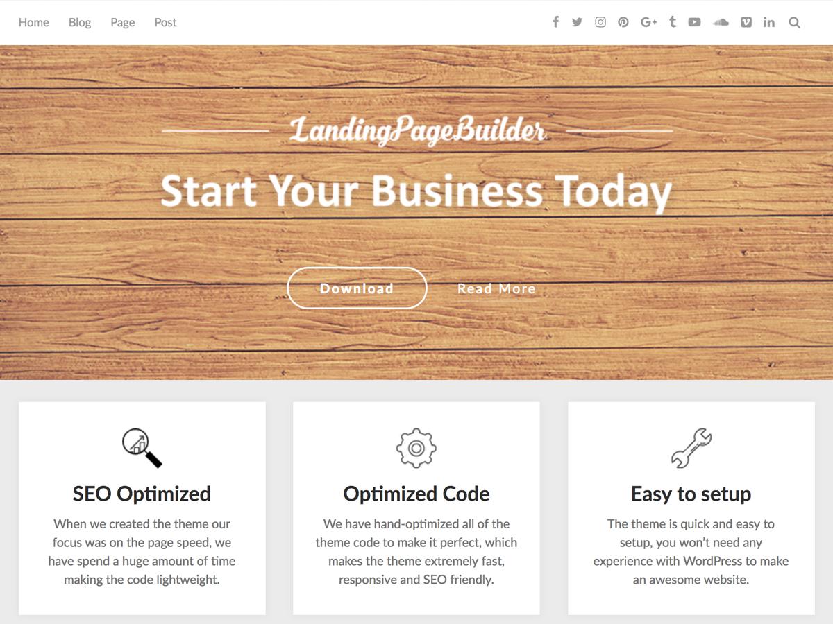 LandingPageBuilder Preview Wordpress Theme - Rating, Reviews, Preview, Demo & Download