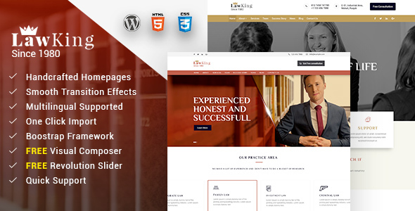 Lawking Preview Wordpress Theme - Rating, Reviews, Preview, Demo & Download