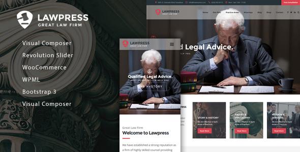 LawPress Preview Wordpress Theme - Rating, Reviews, Preview, Demo & Download
