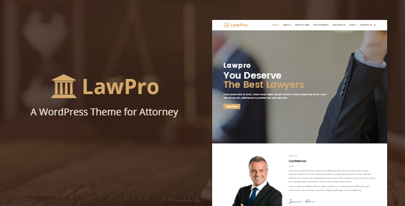 Lawpro Preview Wordpress Theme - Rating, Reviews, Preview, Demo & Download