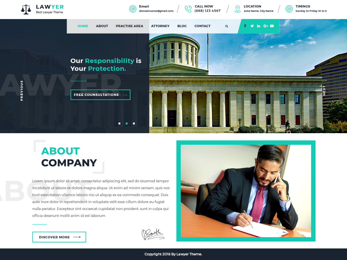 Lawyer Lite Preview Wordpress Theme - Rating, Reviews, Preview, Demo & Download