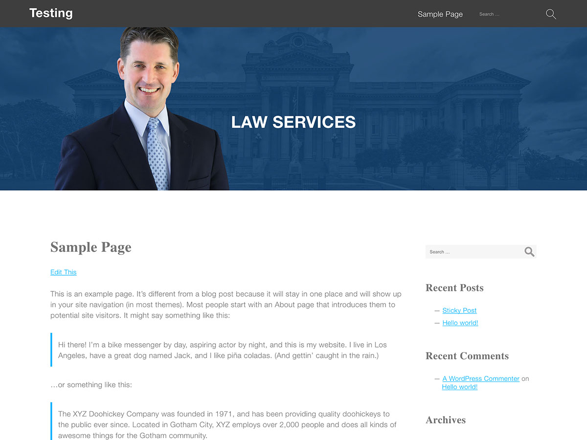 Lawyer WP Preview Wordpress Theme - Rating, Reviews, Preview, Demo & Download