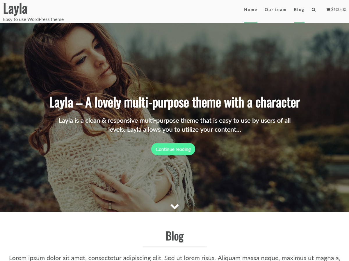 Layla Preview Wordpress Theme - Rating, Reviews, Preview, Demo & Download