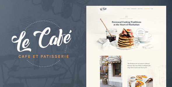 Le Cafe Preview Wordpress Theme - Rating, Reviews, Preview, Demo & Download