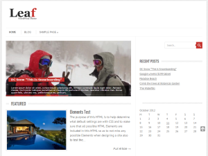 Leaf Preview Wordpress Theme - Rating, Reviews, Preview, Demo & Download