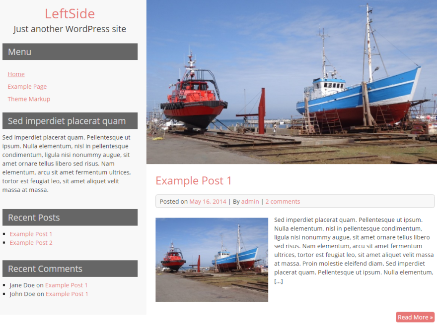 LeftSide Preview Wordpress Theme - Rating, Reviews, Preview, Demo & Download