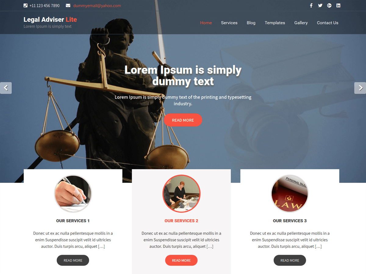 Legal Adviser Preview Wordpress Theme - Rating, Reviews, Preview, Demo & Download