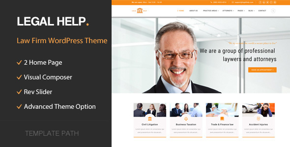 Legal Help Preview Wordpress Theme - Rating, Reviews, Preview, Demo & Download