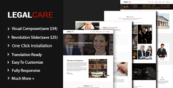 Legalcare Preview Wordpress Theme - Rating, Reviews, Preview, Demo & Download