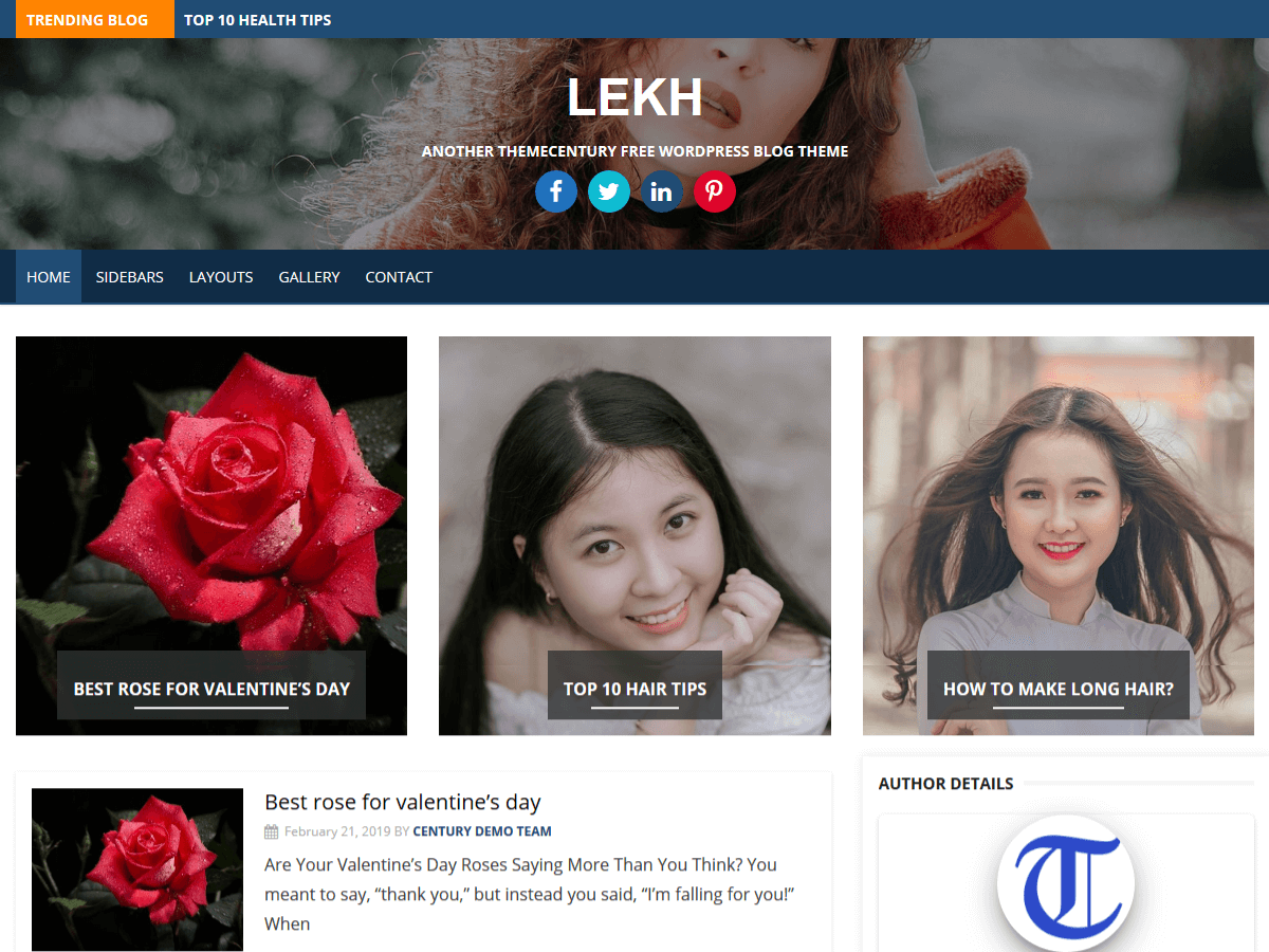 Lekh Preview Wordpress Theme - Rating, Reviews, Preview, Demo & Download