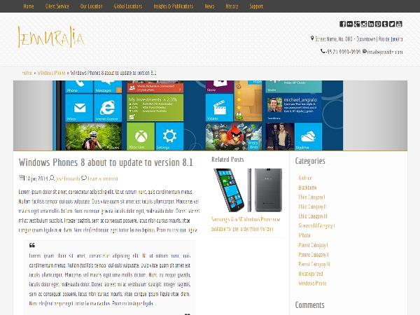 Lemuralia Preview Wordpress Theme - Rating, Reviews, Preview, Demo & Download