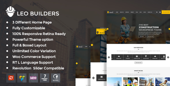 Leo Builders Preview Wordpress Theme - Rating, Reviews, Preview, Demo & Download