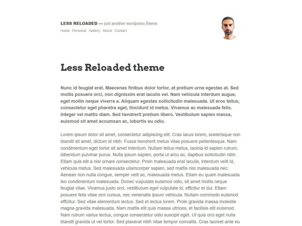 Less Reloaded Preview Wordpress Theme - Rating, Reviews, Preview, Demo & Download