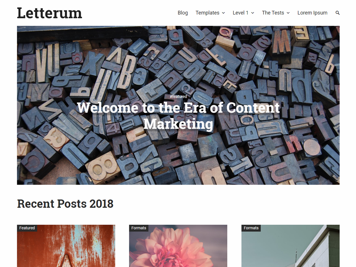 Letterum Preview Wordpress Theme - Rating, Reviews, Preview, Demo & Download