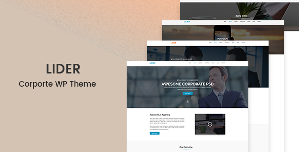Lider Preview Wordpress Theme - Rating, Reviews, Preview, Demo & Download