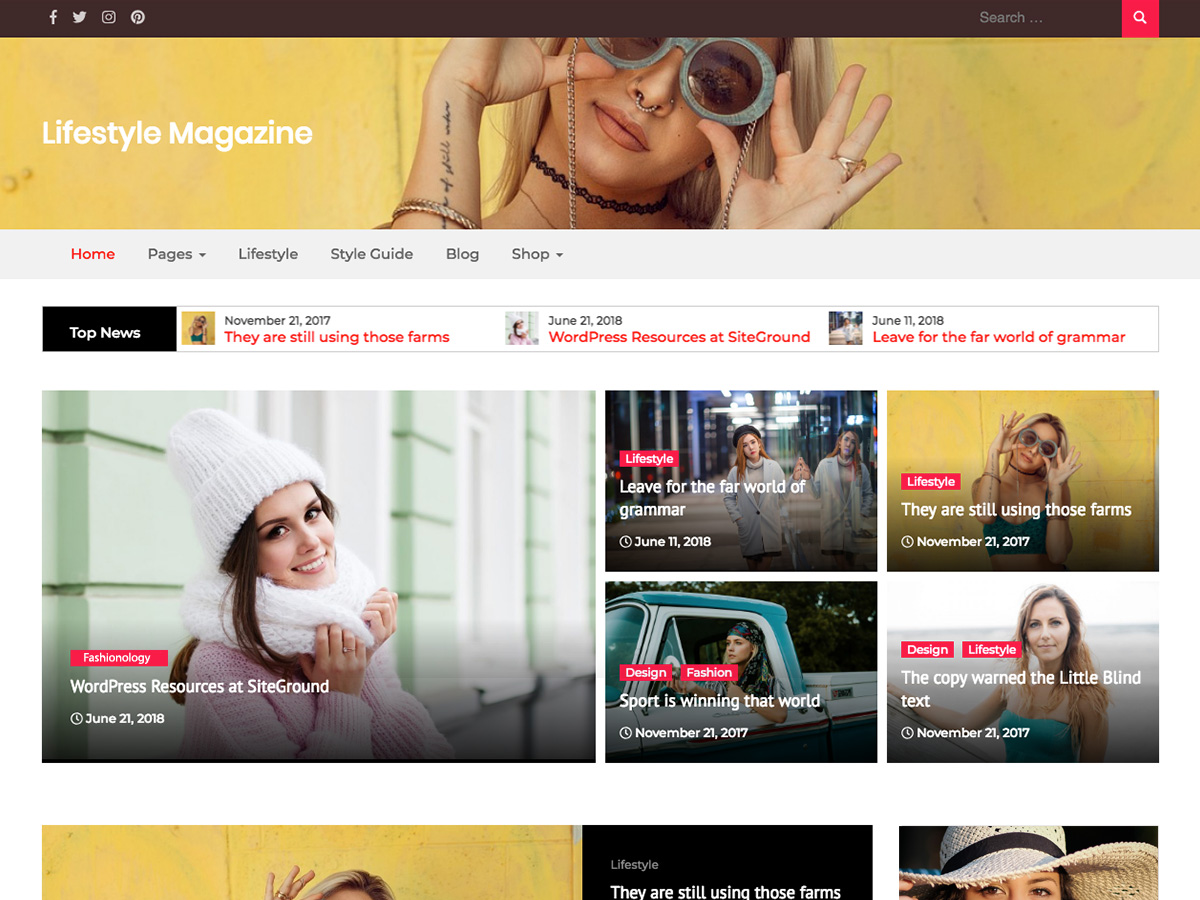 Lifestyle Magazine Preview Wordpress Theme - Rating, Reviews, Preview, Demo & Download