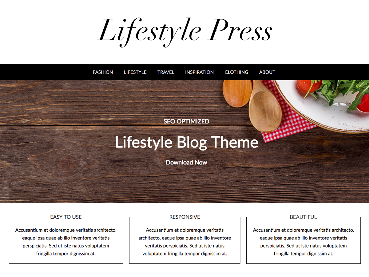 Lifestylepress Preview Wordpress Theme - Rating, Reviews, Preview, Demo & Download