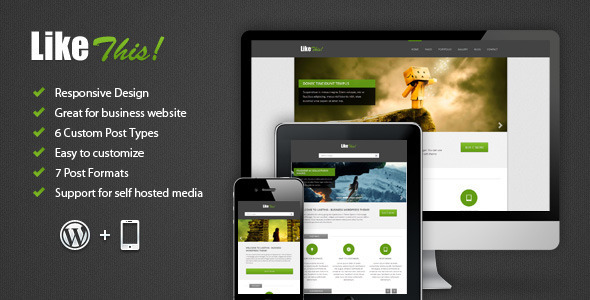 LikeThis Wordpress Preview Wordpress Theme - Rating, Reviews, Preview, Demo & Download